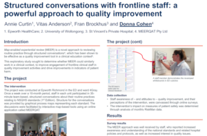 Structured conversations poster by Annie Curtin et al