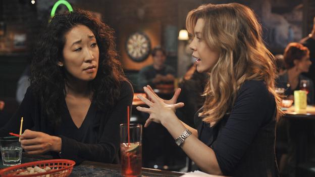 Meredith Grey and Christina Yang on Joe's Pub on Greys Anatomy