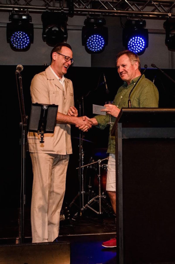 Phil Cohen wins Best Dressed award at AES18